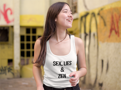 Sex, Lies & Zen Tank Top