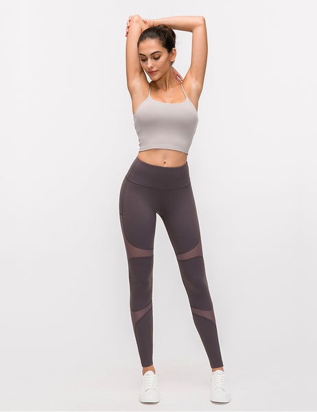 MESH MID RISE WORKOUT LEGGINGS