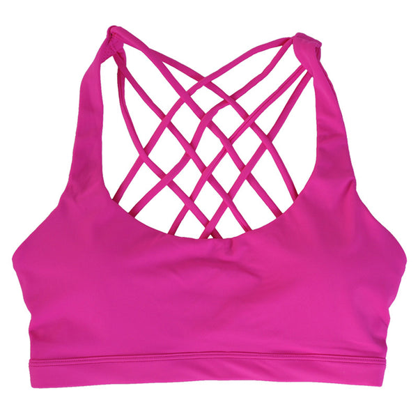 COOL OFF LIGHT SUPPORT STRAPPY YOGA SPORTS BRA