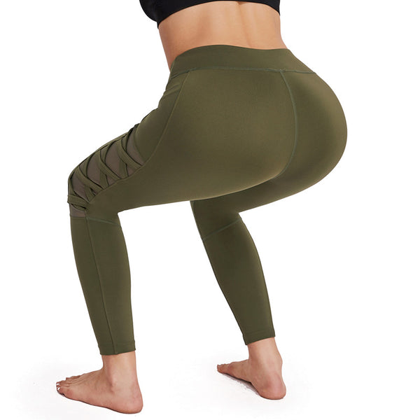 MESH MID RISE WORKOUT LEGGINGS III