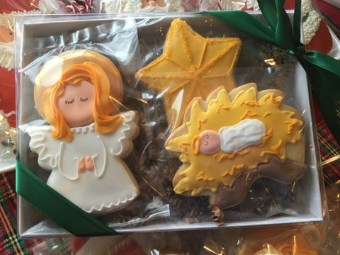 Decorated Cookie - Christmas - Away in a Manger