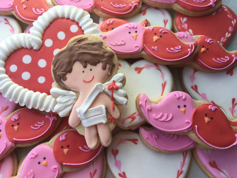Valentine's Day - Decorated Cookies: Assorted Dozen With Cupid