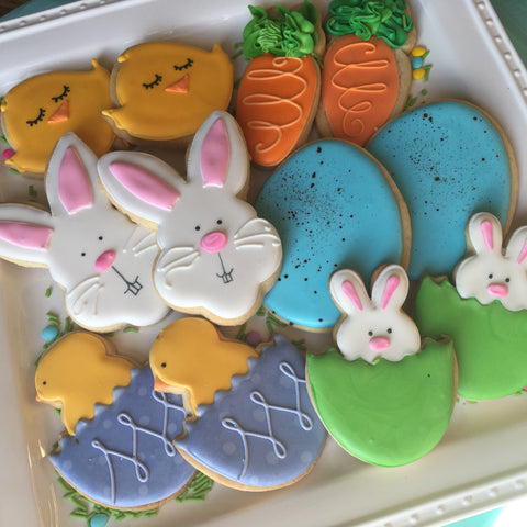 Decorated Cookie - Easter - Assorted Dozen, Bunnies and Chicks