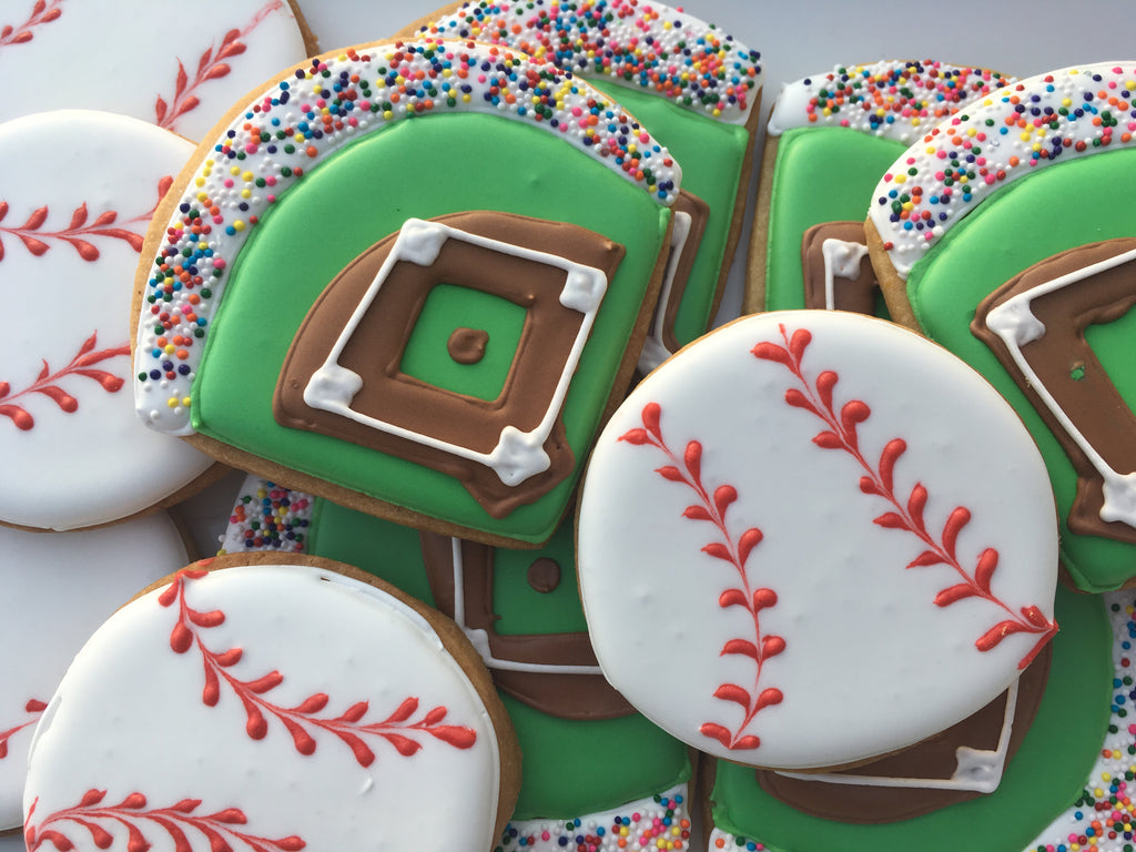 Decorated Cookie - Father's Day - Baseball Set