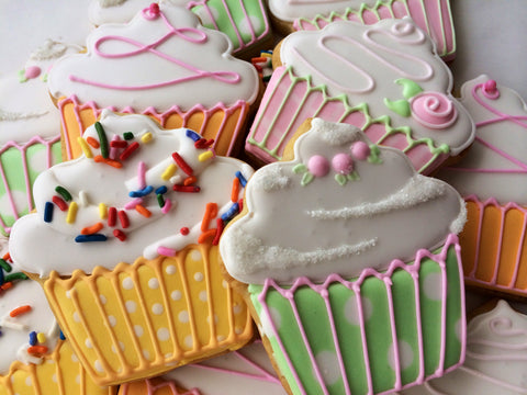 Decorated Cookie - Birthday - Cupcake Dozen