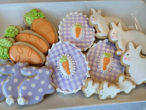 Decorated Cookie - Easter - Bunnies and Eggs