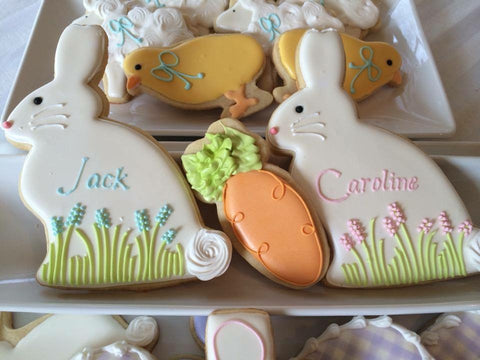 Decorated Cookie - Easter - Large Bunny