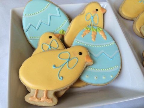 Decorated Cookie - Easter - Chicks and Eggs
