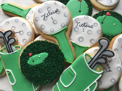 Decorated Cookie - Father's Day - Golf Set