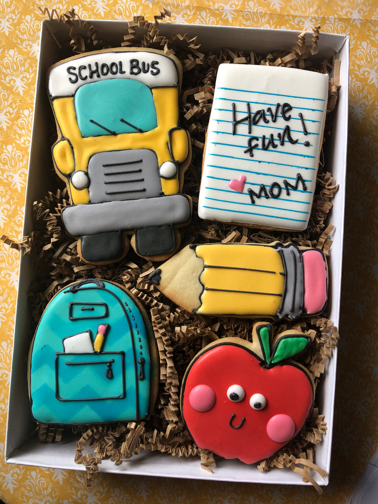 Decorated Cookie - Back to School - School Bus