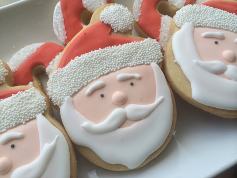 Decorated Cookie - Christmas - Santa Face