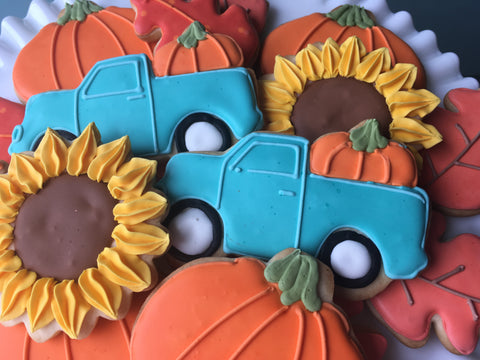 Decorated Cookie - Fall Cookies - Dozen