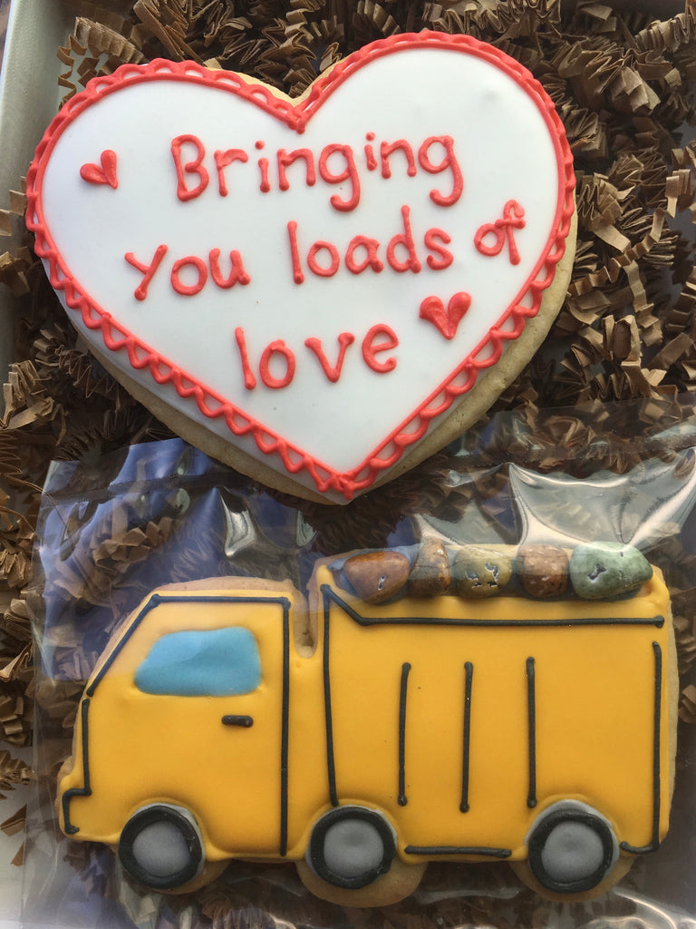 Valentine's Day - Decorated Cookies: Dump Truck Set