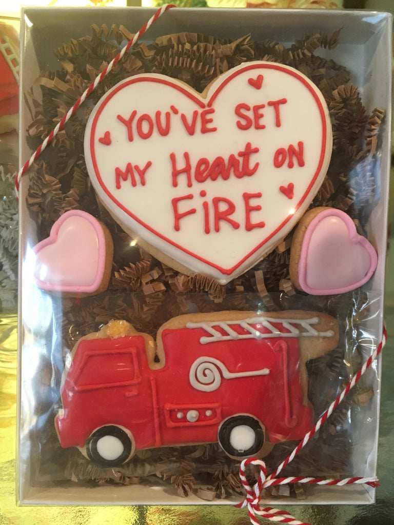 Valentine's Day - Decorated Cookies: Fire Truck Set