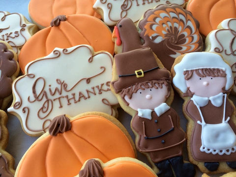 Decorated Cookie - Thanksgiving - Assorted Dozen