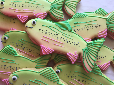 Decorated Cookie - Father's Day -Rainbow Trout Set