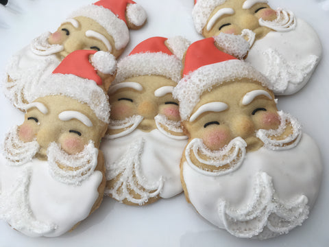 Decorated Cookie - Christmas - Vintage Santa Dozen