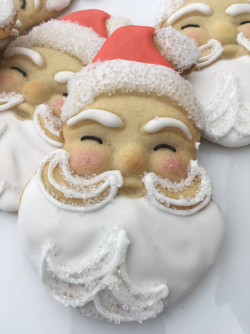 Decorated Cookie - Christmas - Vintage Santa -Single Cookie