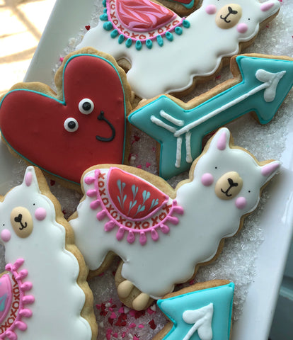Llama, Hearts and Arrows Assorted Dozen