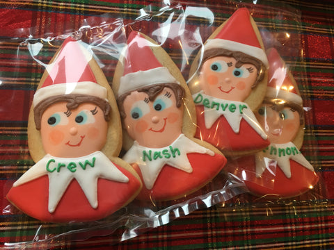 Personalized Elf - Single Cookie