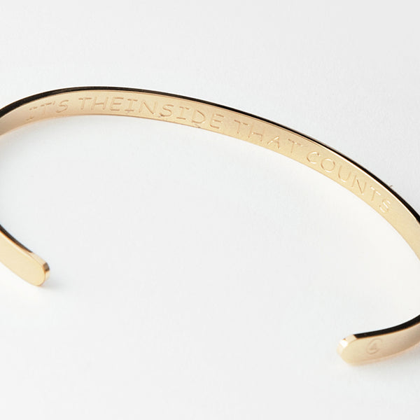 "Bangle "" It's the inside that counts """