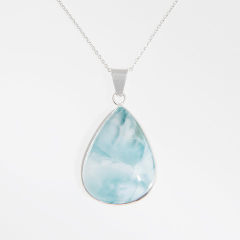 Necklace Silver Larimar long