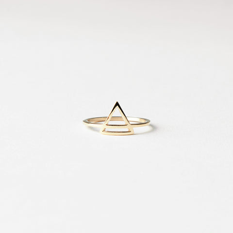 "Ring ""Triangle Gold"""
