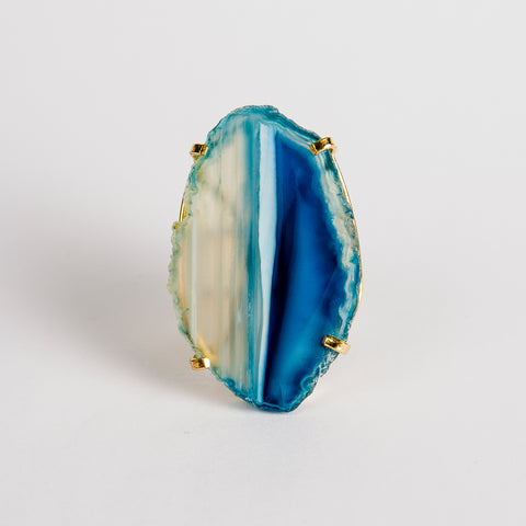 Ring Saudade Blue agate