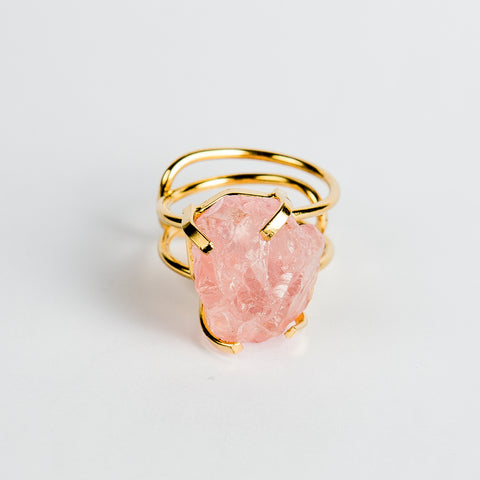 Ring Rose Quarz