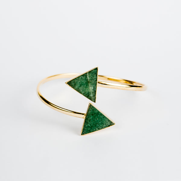 Bracelet Triangle Green Emerald