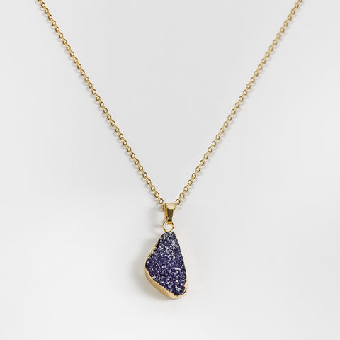 Necklace Druzy Pacific Blue