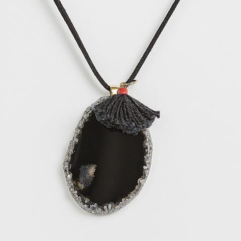 Necklace Black Agate earth