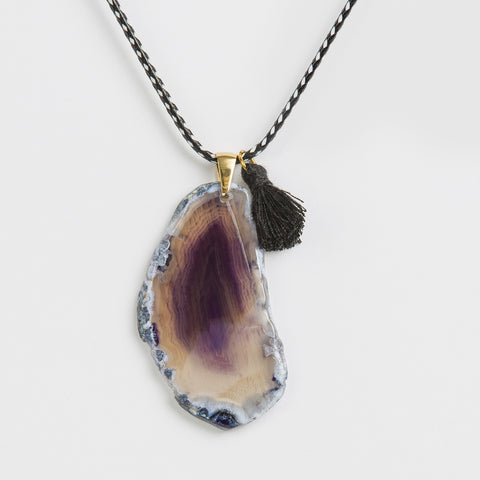 Necklace Purple Moon Agate