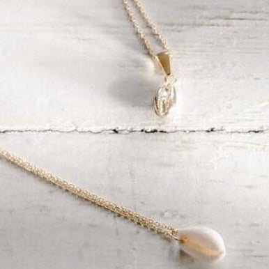 Necklace Shell Mermaid Golden Cowrie