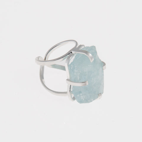 Ring aquamarine silver
