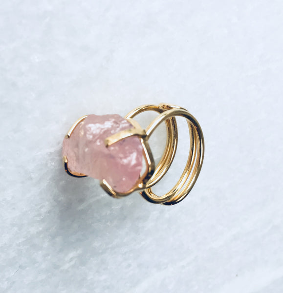 Ring Rocky Rose Quartz