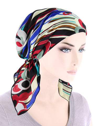 CE-BDNASCARF-906#Bandana Scarf in Picasso Red
