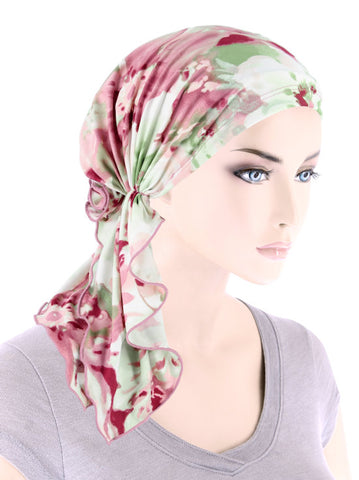 BELLA-782#The Bella Scarf Mauve Watercolor Floral