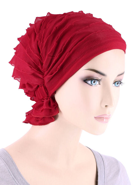 ABBEY-664#The Abbey Cap in Ruffle Red