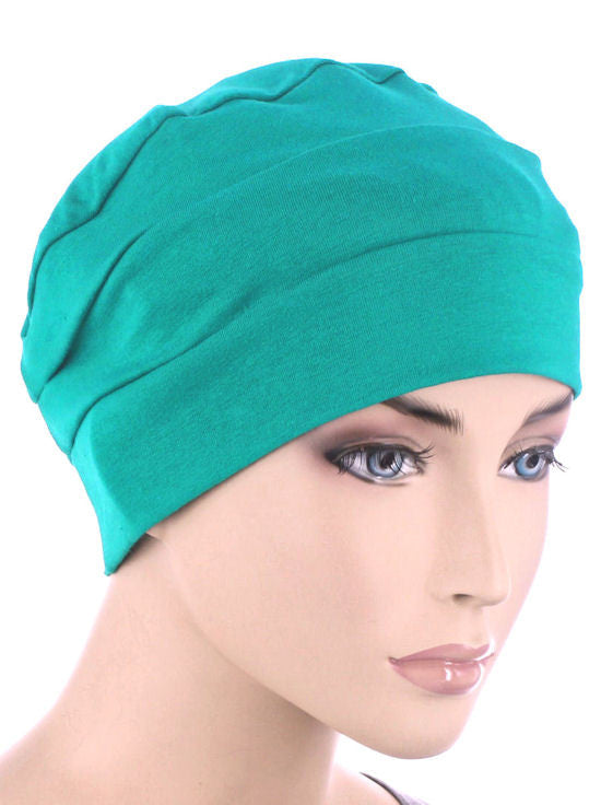 8e5defc7e77 3-Seam Chemo Cloche Cap in Turquoise Green – Chemo Fashion Scarf