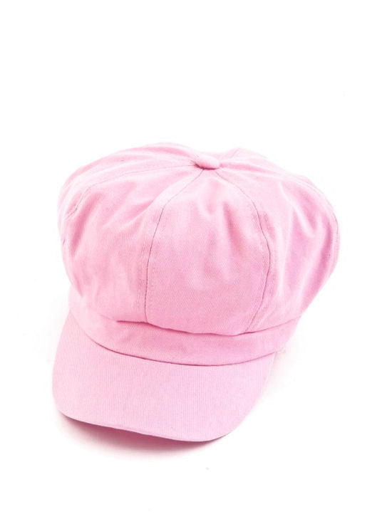 NB-LTPINK#Cotton Newsboy Chemo Hat in Light Pink
