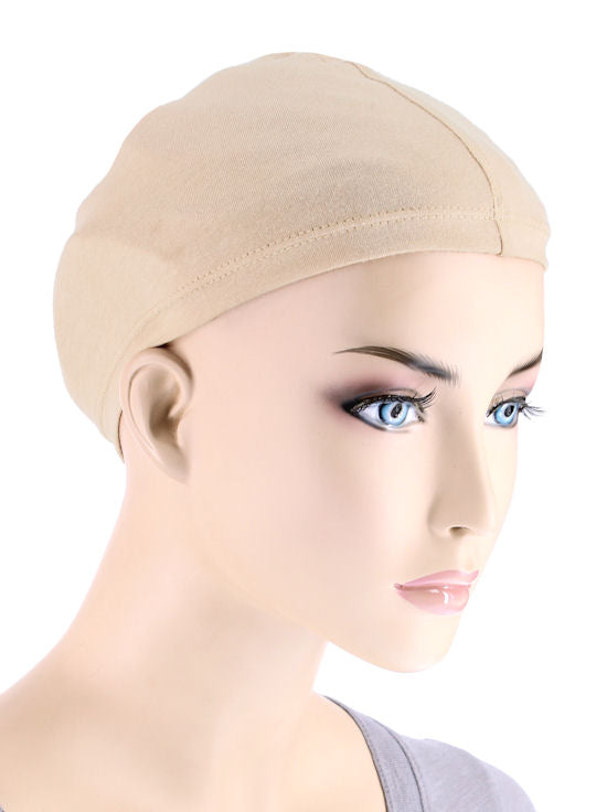 WLPM-BEIGE2#Cotton Wig Liner in Natural 2 pc Pack