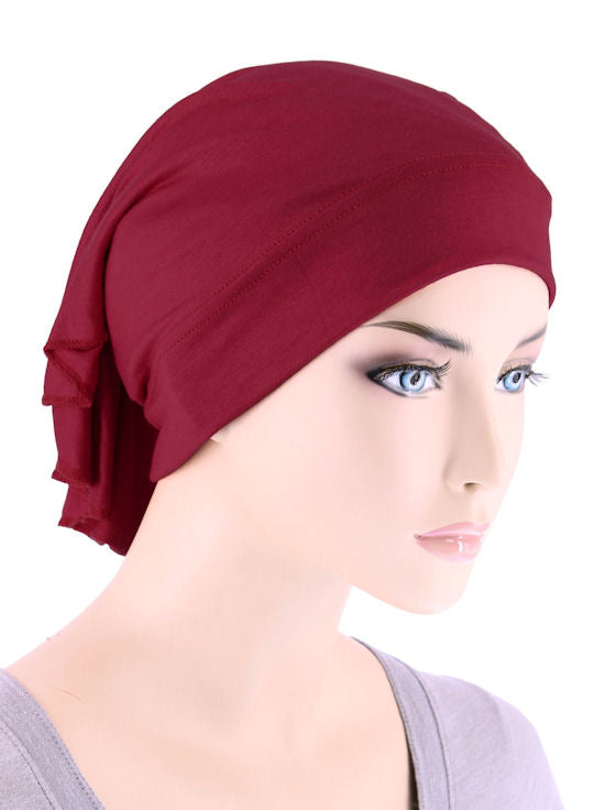 CE-BDNAWRAP-BURGUNDY#Bandana Wrap in Burgundy Red