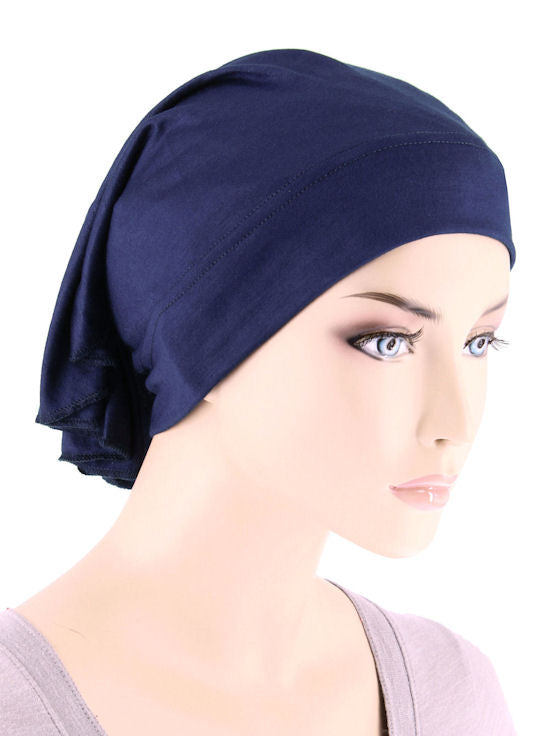CE-BDNAWRAP-NAVY#Bandana Wrap in Navy Blue