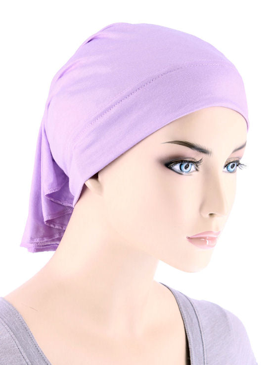 CE-BDNAWRAP-LILAC#Bandana Wrap in Purple Lilac