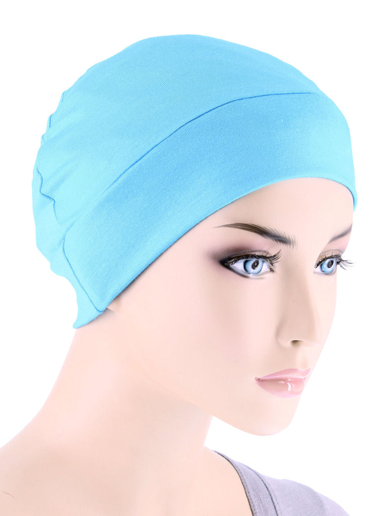 CE-CHEMOCAP-SKYBLUE#Chemo Cap in Sky Blue