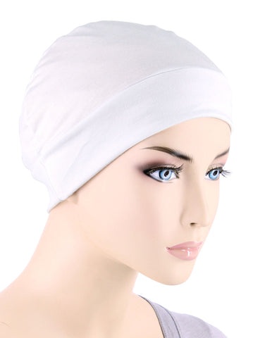 CE-CHEMOCAP-WHITE#Chemo Cap in White