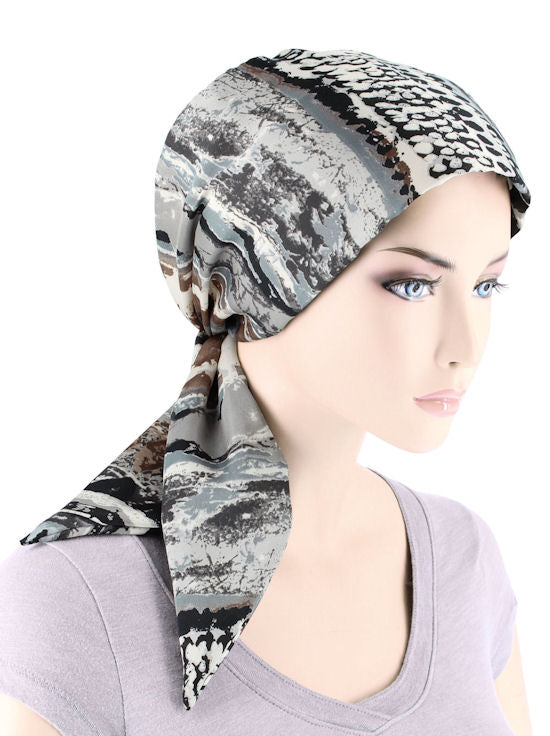 CFS-1148#Chemo Fashion Scarf Cape Cod Gray