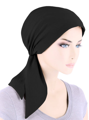 CFS-1155#Chemo Fashion Scarf Black