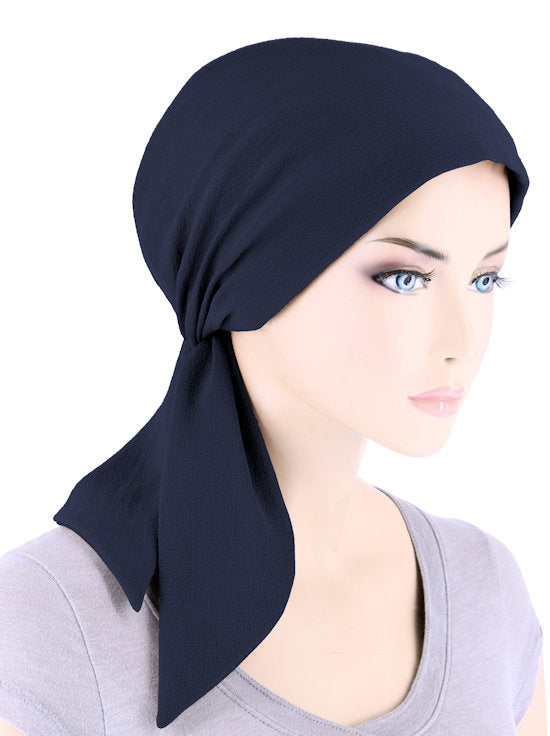 CFS-1158#Chemo Fashion Scarf Navy Blue
